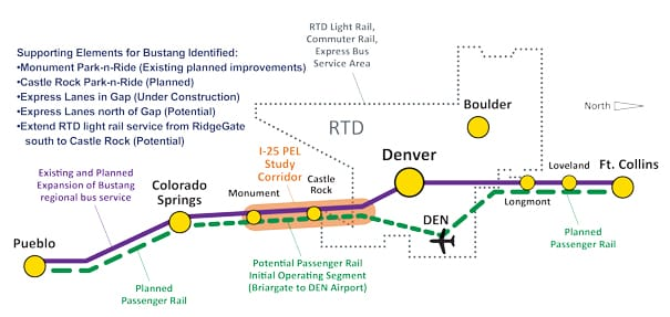CDOT study reveals C-470 to Castle Rock roadway project options
