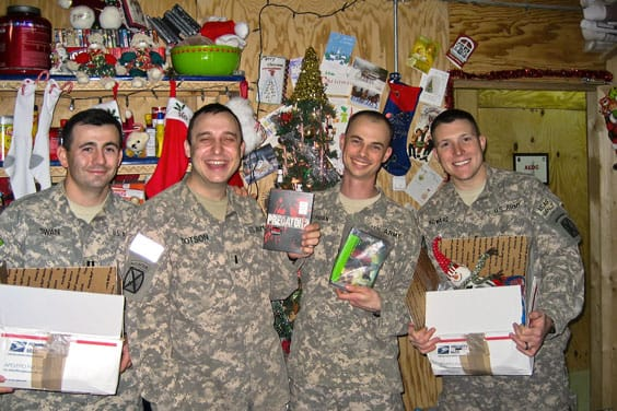 Pic of troops receiving tcandy