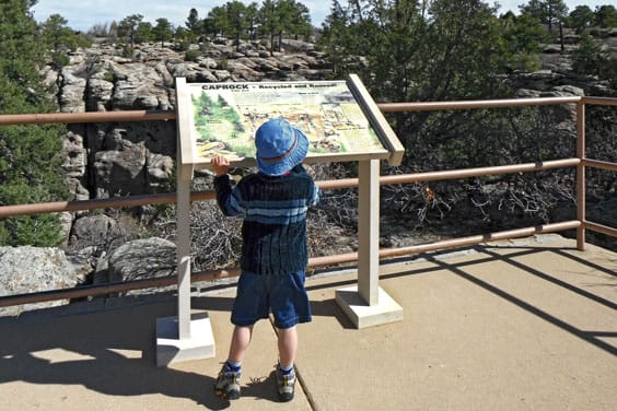 pic of map at Castlewood Canyon State Park.
