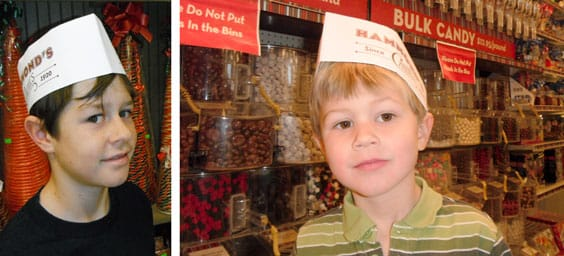 Pic of author at candy factory