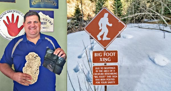 Picture at bigfoot crossing sign