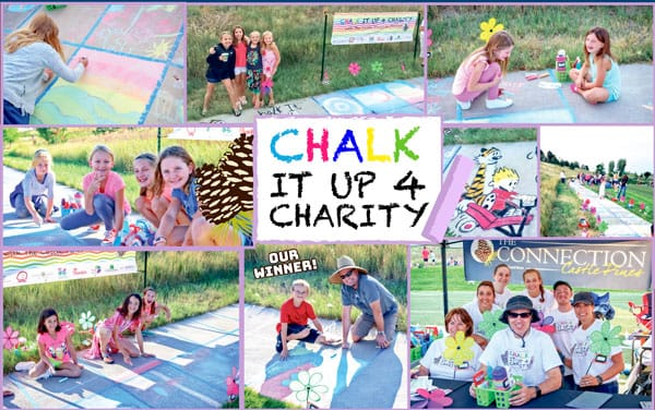 Photo collage of chalk drawings
