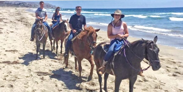 picture of The Minarick family enjoyed the beach and horseback riding near San Diego, California