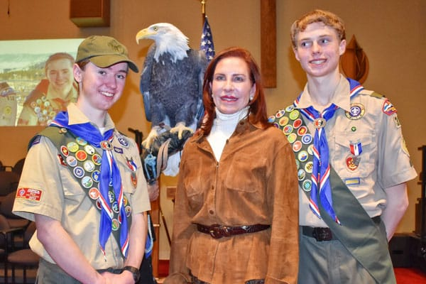 Photo of scouts with the mayor