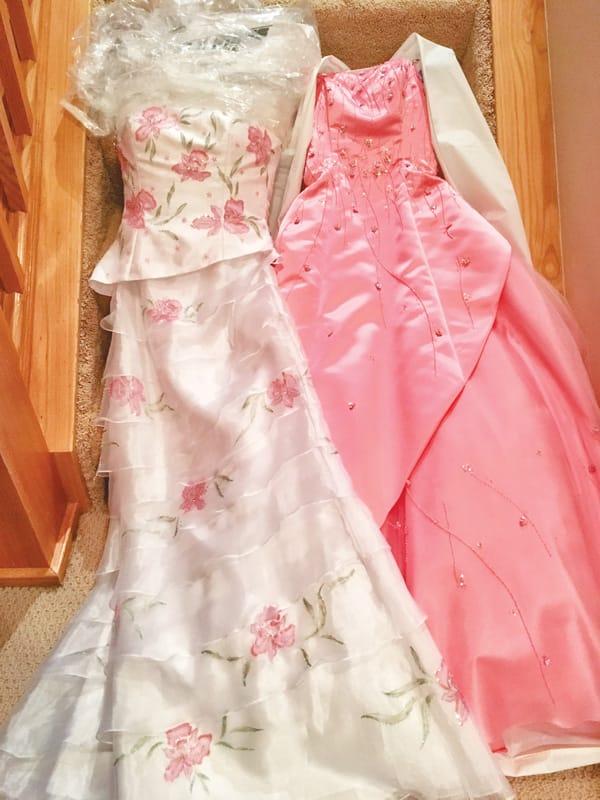 Photo of beautiful ballgowns.