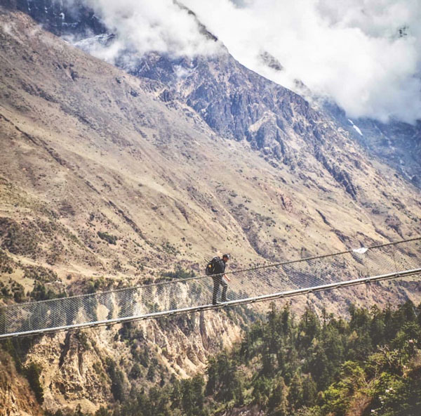 Picture of bridge in Nepal