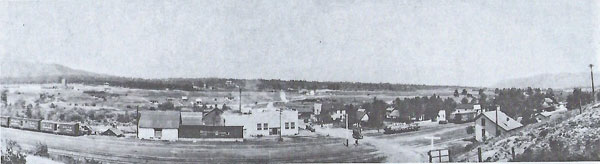 Picture looking east at the Frink Creamery