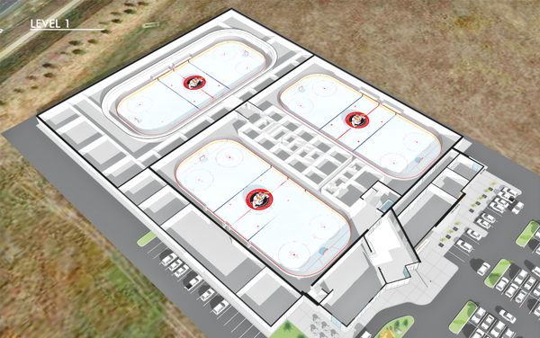 Graphic of proposed ice rink