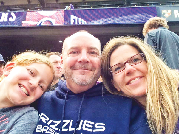 Photo of Ulrich family at Rockies Game