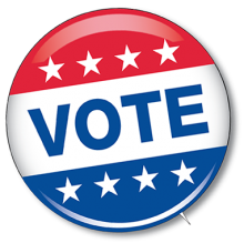 Graphic of Vote pin