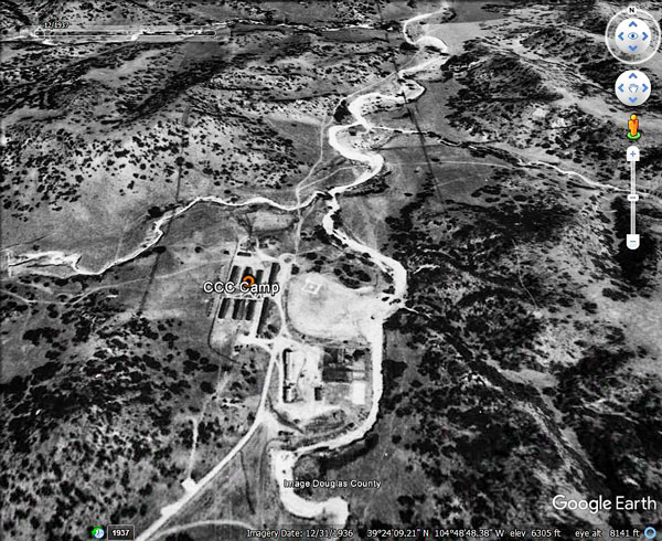 Satellite photo from 1937 of McMurdo Gulch