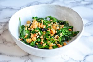 Photo of Italian Spinach with Garbanzo Beans and Raisins