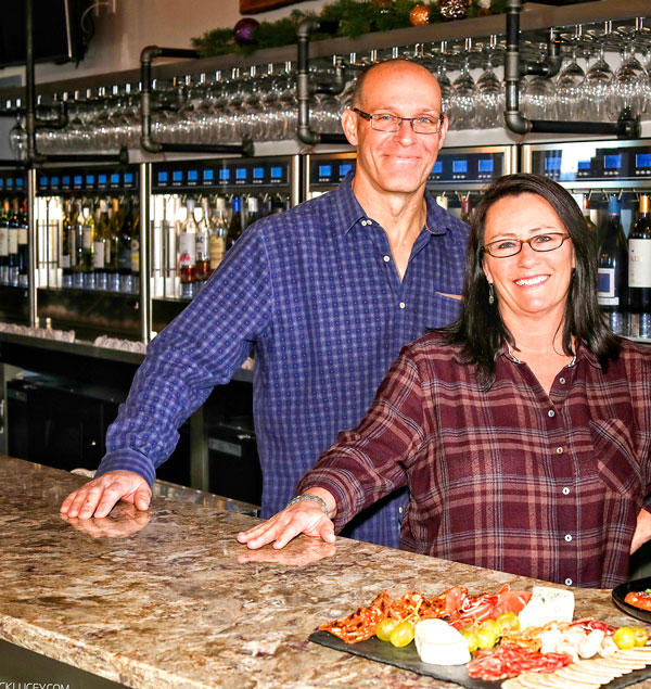 Photo of James and Nancie Lewis the owners of Crush Wine Bar in Castle Rock