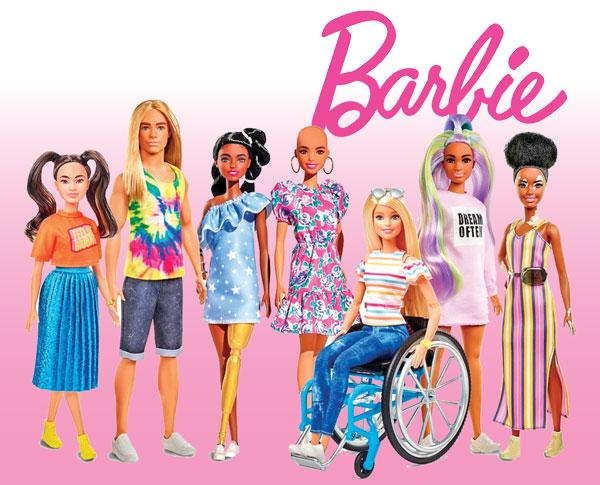 Inclusive Barbie dolls