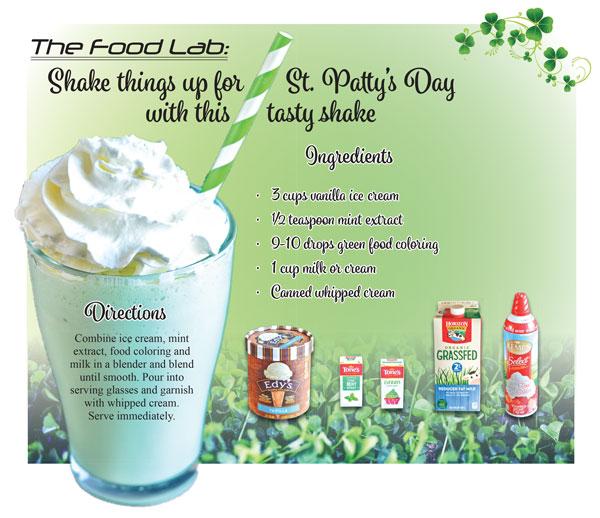 Photo of St. Patty's Day tasty shake