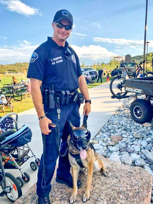 Photo honoring K-9 Officer Ronin