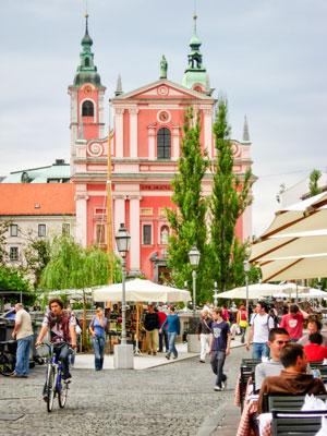 Photo Street Scene Slovenia Capital