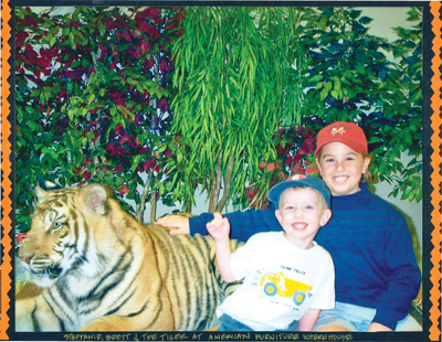Photo of boys with Tiger