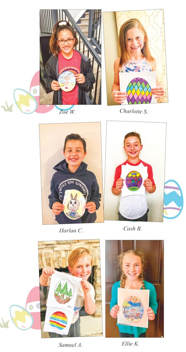 Winners of Easter Egg Hunt
