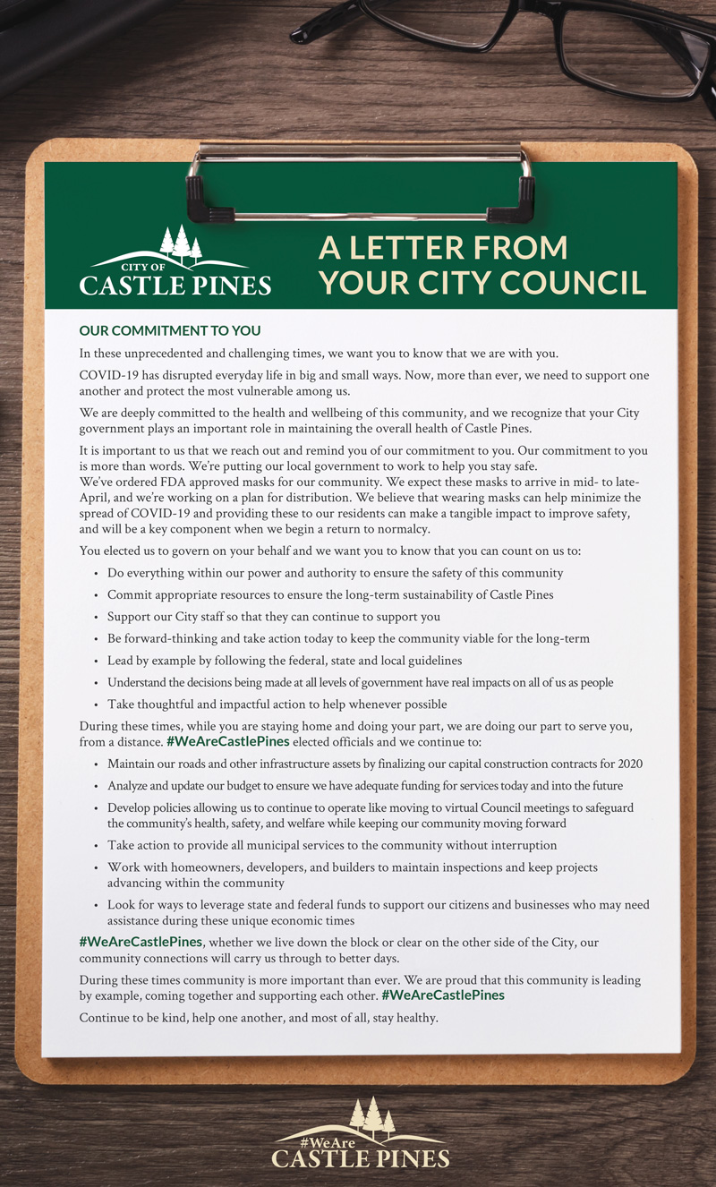 Letter from CP City Council
