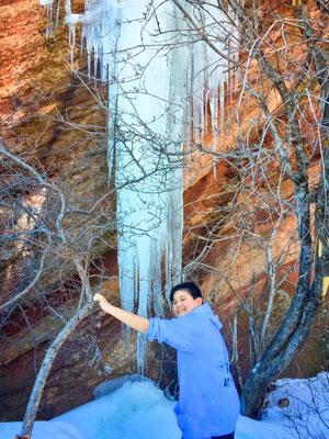 Photo of Emmett Rhee climbing at Red Rocks