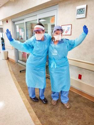 Photo of Kathy Gallegos and fellow nurse Kristan Dye.