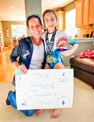 Mia Allen celebrates her love for gymnastics