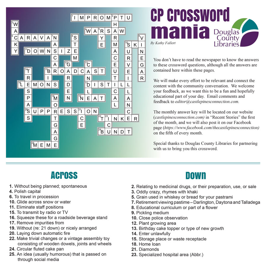 June 2020 Crossword