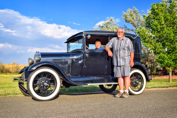 Photo of Mark Clingman and 1929 Ford