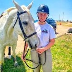 Photo of Emma Beaman and rescue horse Stormy