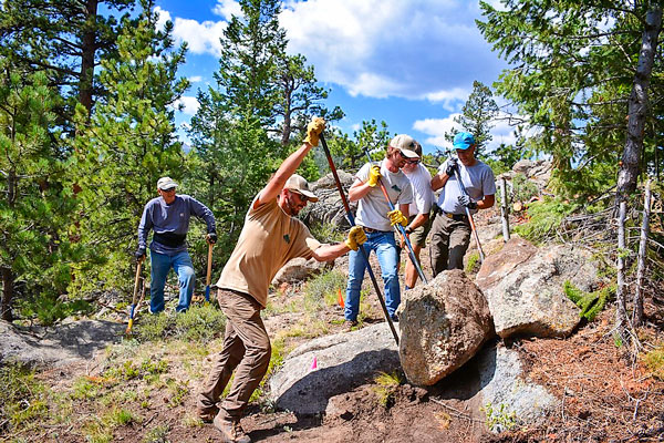 Photo of Roundup Riders of the Rockies Heritage and Trails Foundation members