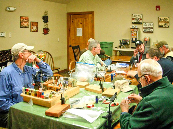 Photo of Patriot Anglers holding fly tying classes