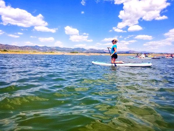 Photo of paddleboarder