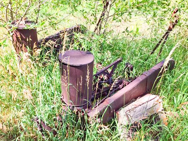 Photo of rusted potato device