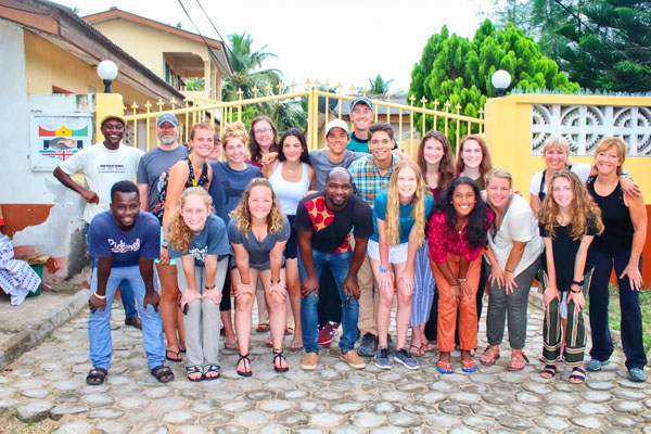 Photo of 2018 Colorado To Ghana trip participants.