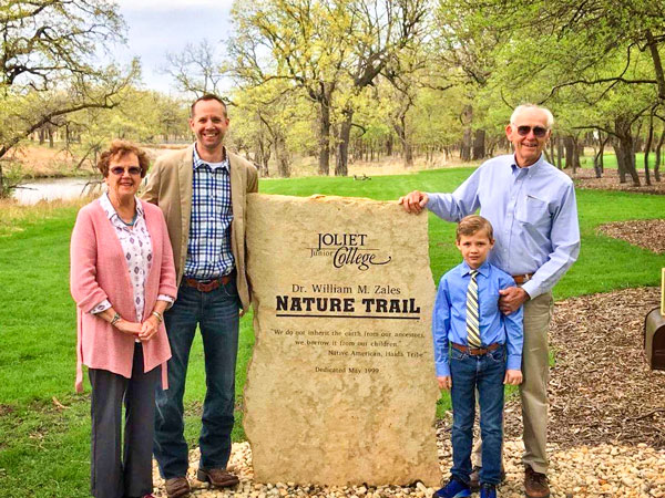 Photo of rededication of the nature trail