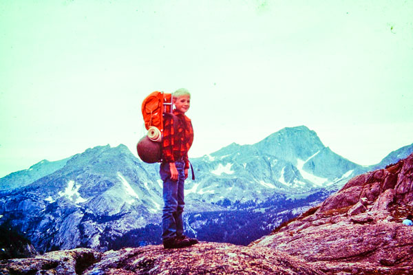 Photo of Bryan Zales first backpacking trip