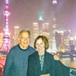 Photo of Tom and Judy Pecsok traveling together.