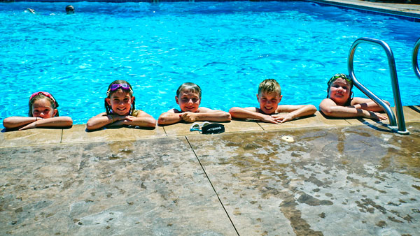 Photo of kids in pool