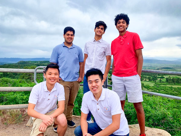Photo left to right top row: Nihaar Gupta, Naman Kapasi and Nandan Murugesan; bottom row: Derek Chen and Charlie Fu.