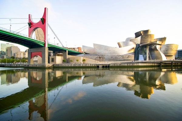 Photo of Guggenheim from across the Nervion River.