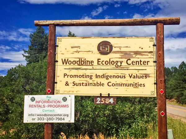 Photo of Woodbine Ecology Center sign