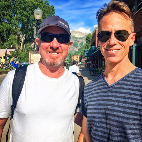 Mark Quam and Pearl Jam drummer, Matt Cameron.