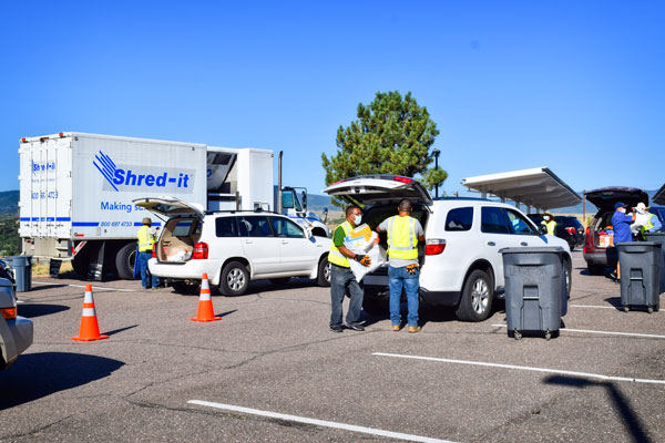Photo of shred event