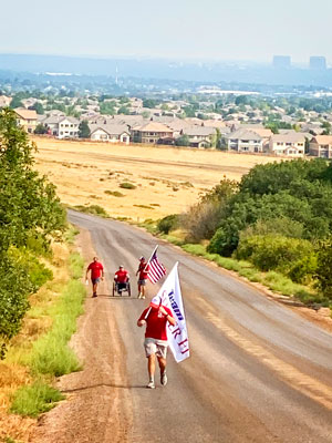 Photo of disabled veterans hiking 100 miles