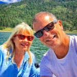 Photo of Stephanie and Stewart Vanderwilt at Electra Lake near Durango.