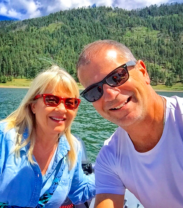 Photo of Stephanie and Stewart Vanderwilt at Electra Lake near Durango.