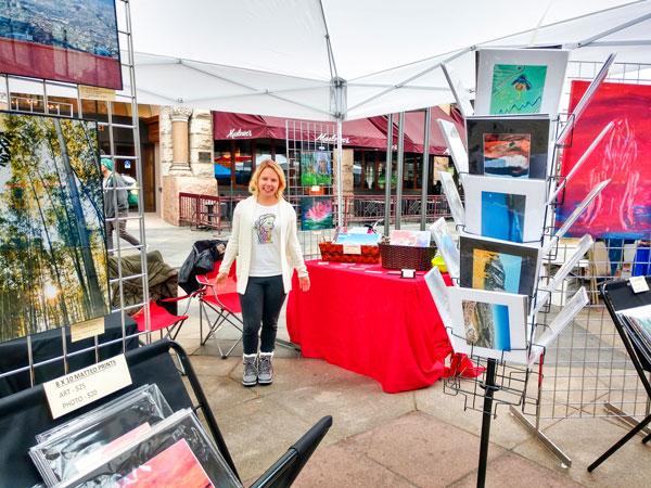 Photo of Babtkis at an art fair