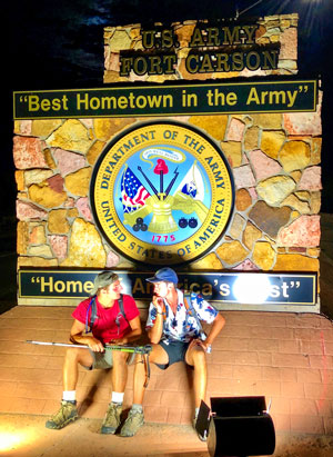 Photo of Hansen and Harmon at Fort Carson
