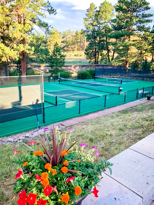 Photo of pickleball courts at the Canyon Club